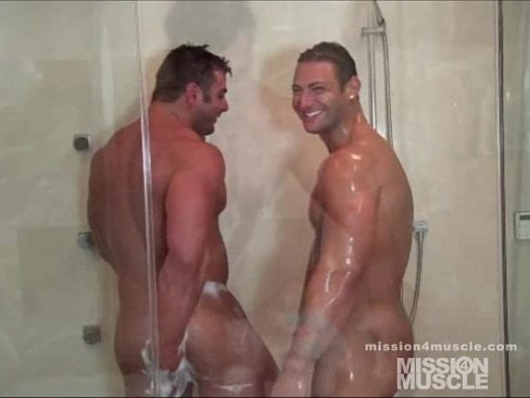 Hungarian hunks in the bathroom