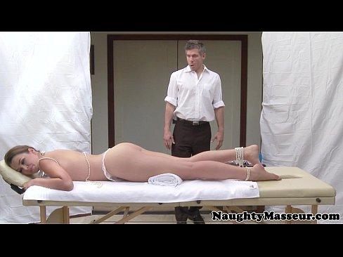 Allie Haze on massage table wants cock