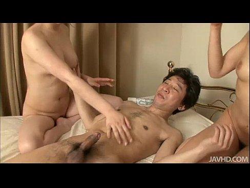 Hitomi Aizawa and a friend drive a horny guy insane