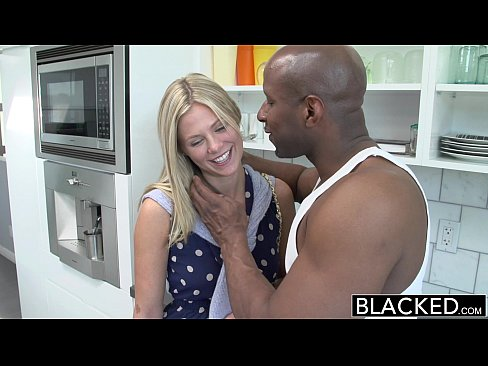 BLACKED Preppy Blonde Girl Loves Big Black Dick