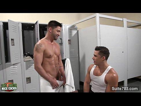 Sexy guys fucking in a locker room