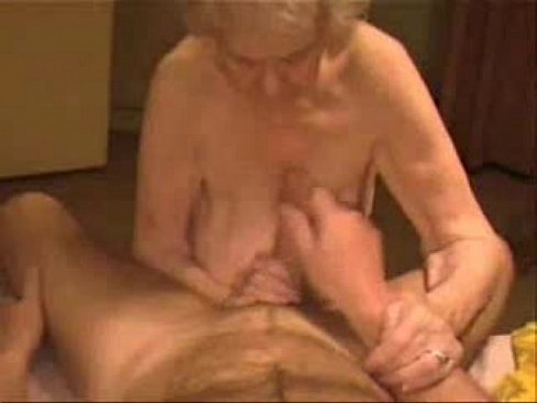 Facial on very old granny amateur older