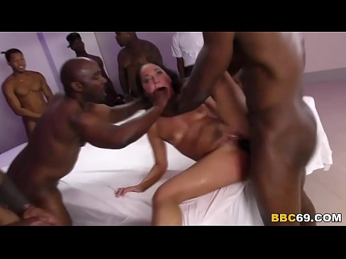 Creampie gangbang for amara
