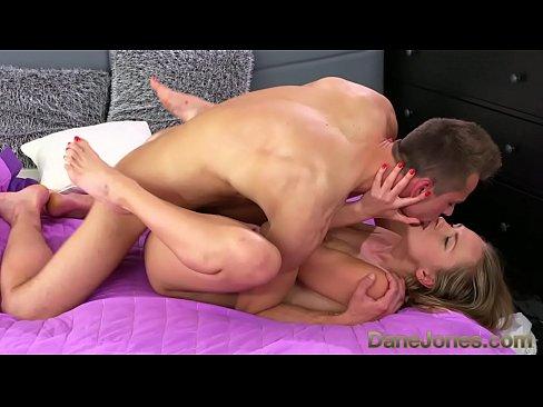 sexy blonde giving a handjob