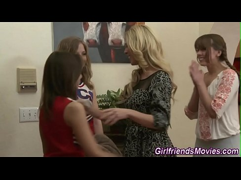 Dyke threesome during teen rimmed Stunning
