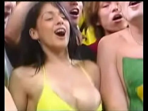 Football fans tits girls