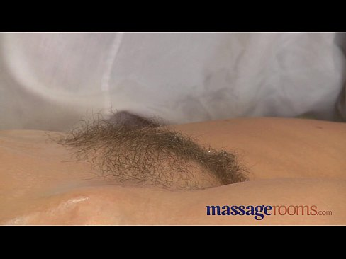 Massage Rooms Mature woman with hairy pussy given orgasm