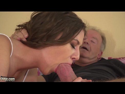 Amateur Teen Sucks Old Man