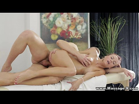 Massage-x - oil massage with deep orgasm, girl shaved two