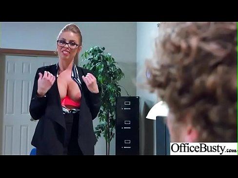(Britney Amber) Big Tits Sluty Girl In Hardcore Sex In Office clip-06