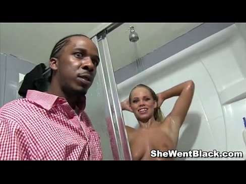 Cute Blonde Britney Young Gangbanged by Black Cocks