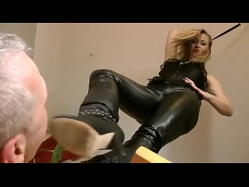 Speaking, trample boot lick video