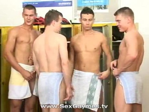 Gay sex in the locker room