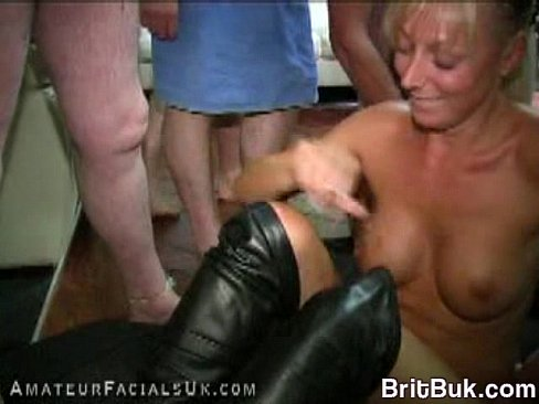 MILF Bukkake for AmateurFacialsUK