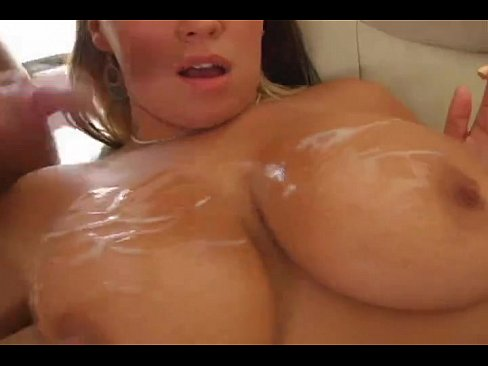 Brandy taylor huge cumshot on big boobs