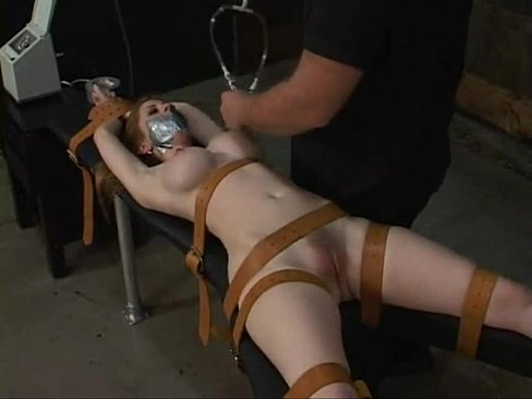 Hardcore bondage tied Natali demore forced to cum