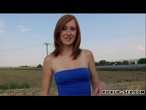 Cute Czech girl Linda Sweet screwed up in an open field