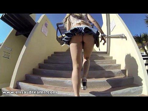 Public Flash Skirt No Panties