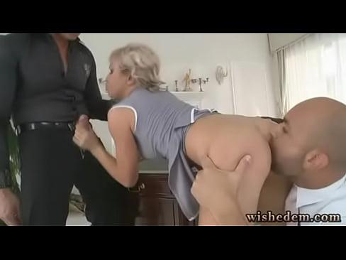 Blonde Fucks Boss Office