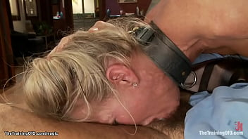 Big boobs blonde MILF trainee housewife Simone Sonay in lingerie is diciplined by master James Mogul then deep throat and pussy fucked by Steven St Croix